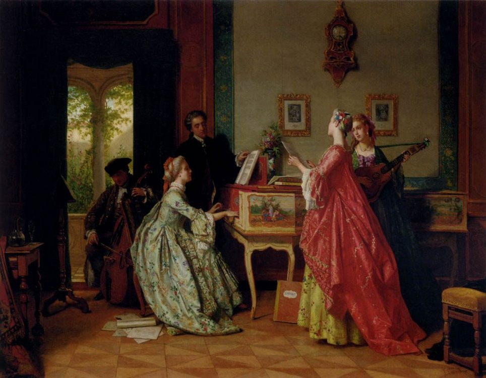 The Recital :: Jean Carolus - Romantic scenes in art and painting фото