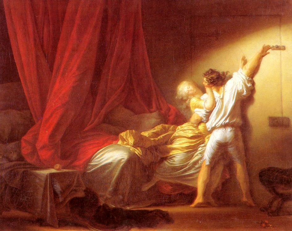 The Bolt  :: Jean-Honore Fragonard - Romantic scenes in art and painting фото