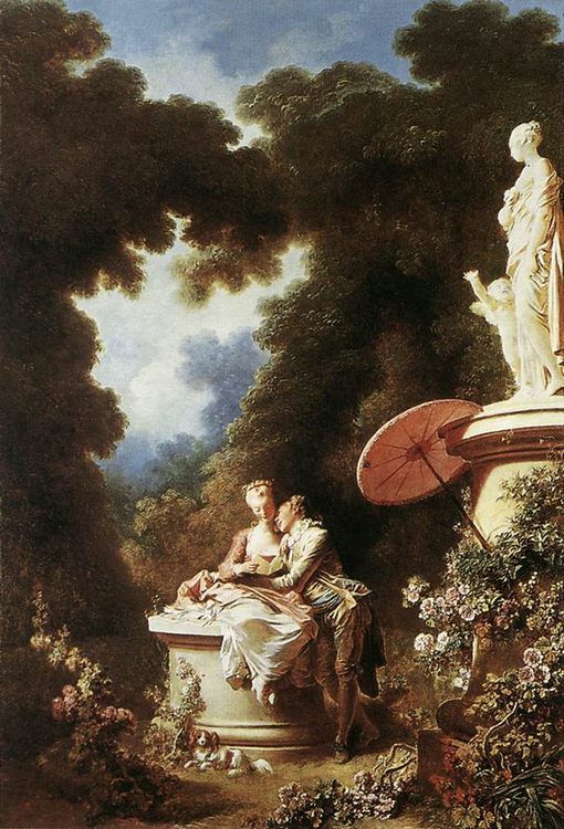 The Confession of Love :: Jean-Honore Fragonard  - Romantic scenes in art and painting фото