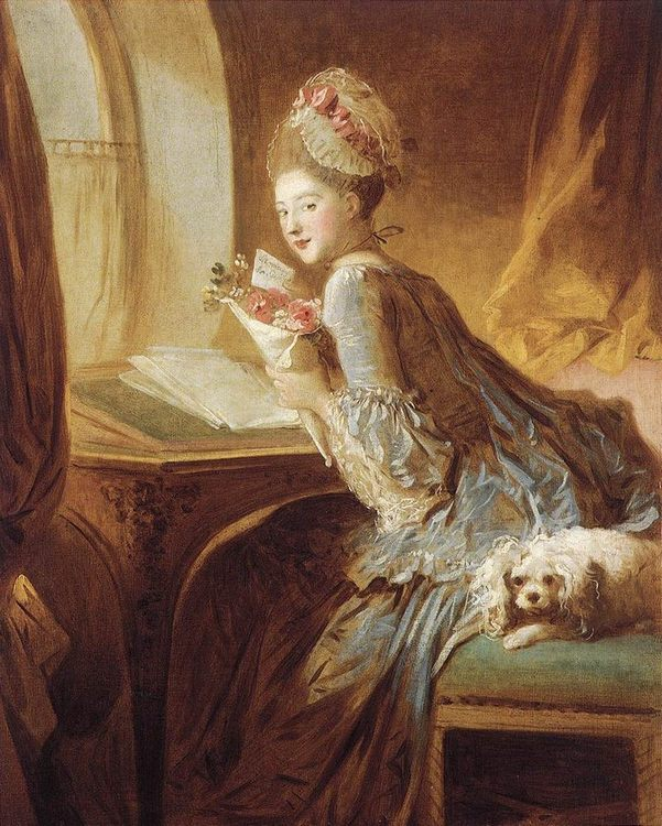 The Love Letter :: Jean-Honore Fragonard - Romantic scenes in art and painting фото