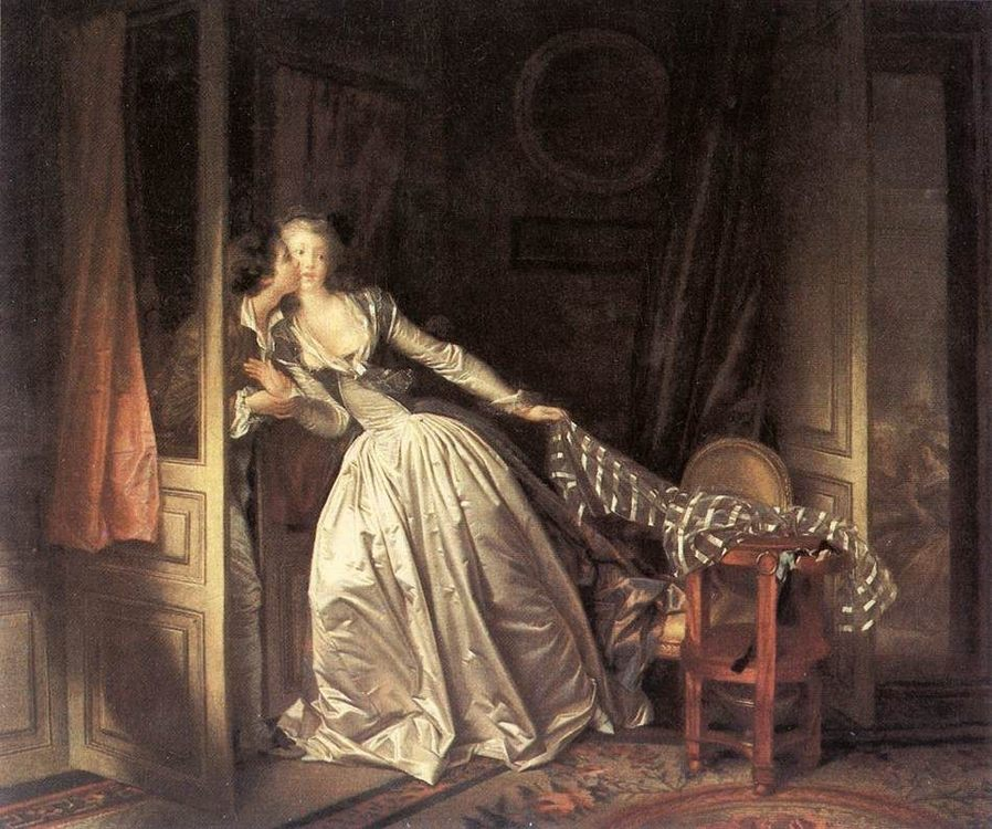 The Stolen Kiss :: Jean-Honore Fragonard - Romantic scenes in art and painting ôîòî