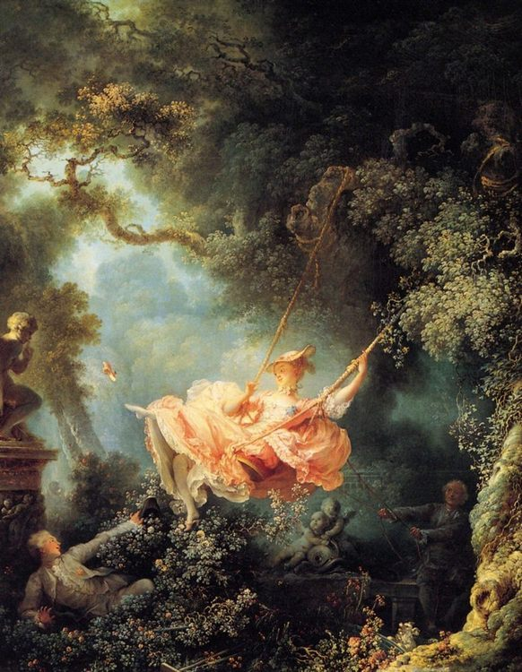 The Swing :: Jean-Honore Fragonard - Romantic scenes in art and painting фото
