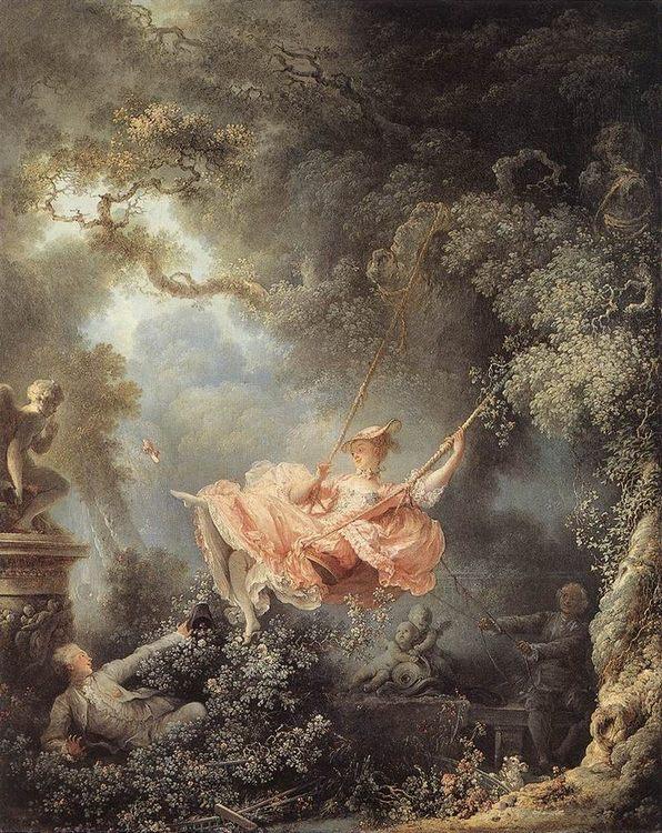 The Swing :: Jean-Honore Fragonard - Romantic scenes in art and painting ôîòî