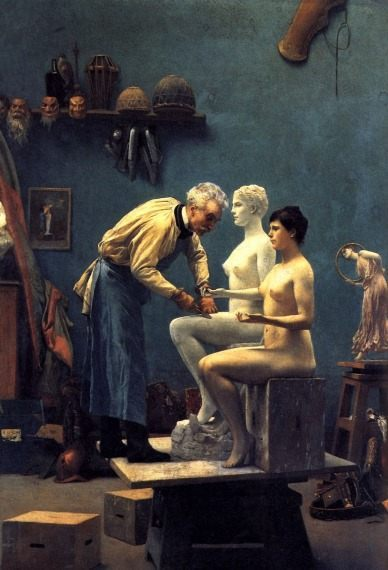 The Artist's Model :: Jean-Leon Gerome - Romantic scenes in art and painting фото