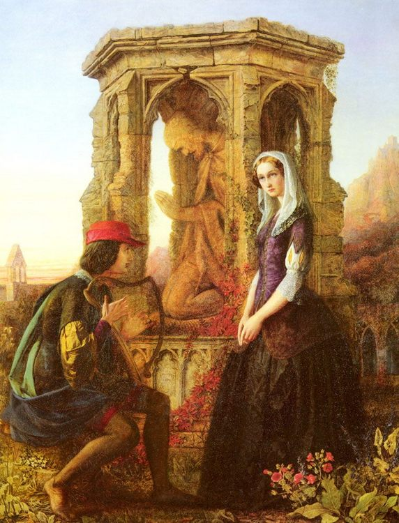 Love :: John S. Clifton - Romantic scenes in art and painting фото