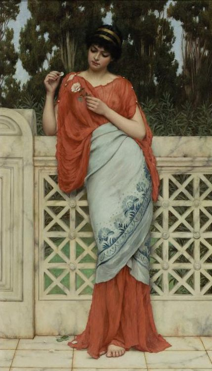 He Loves Me, He Loves Me Not :: John William Godward - Romantic scenes in art and painting фото