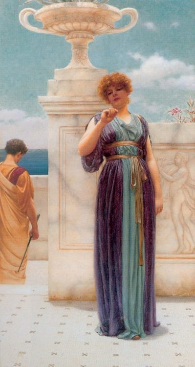 The Engagement Ring :: John William Godward  - Romantic scenes in art and painting фото