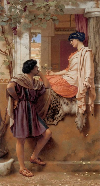 The Old, Old Story :: John William Godward - Romantic scenes in art and painting фото