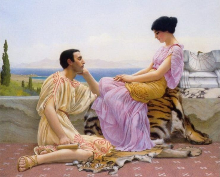 Youth and Time :: John William Godward - Romantic scenes in art and painting фото