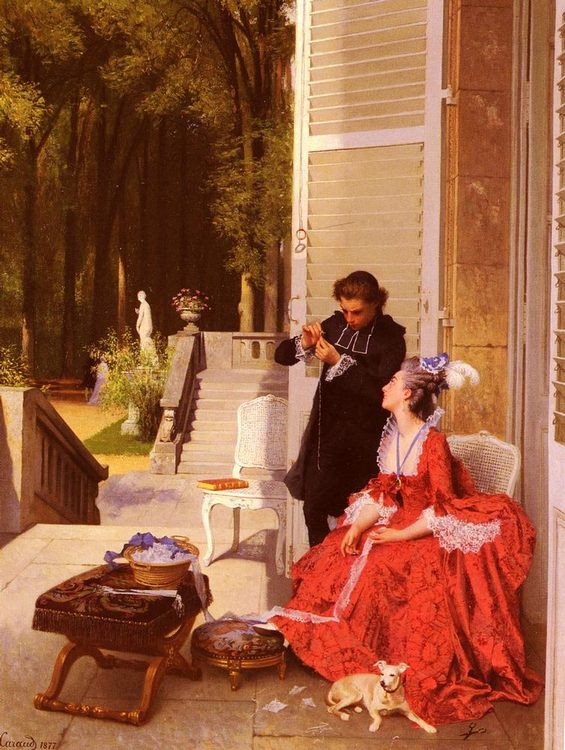 The Obliging Abb :: Joseph Caraud - Romantic scenes in art and painting фото