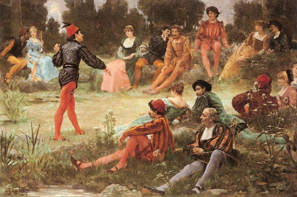 The Performance :: Jules Arsene Garnier - Romantic scenes in art and painting ôîòî