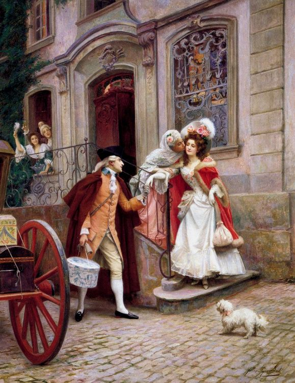 Departing on honeymoon :: Jules Girardet - Wedding scene фото