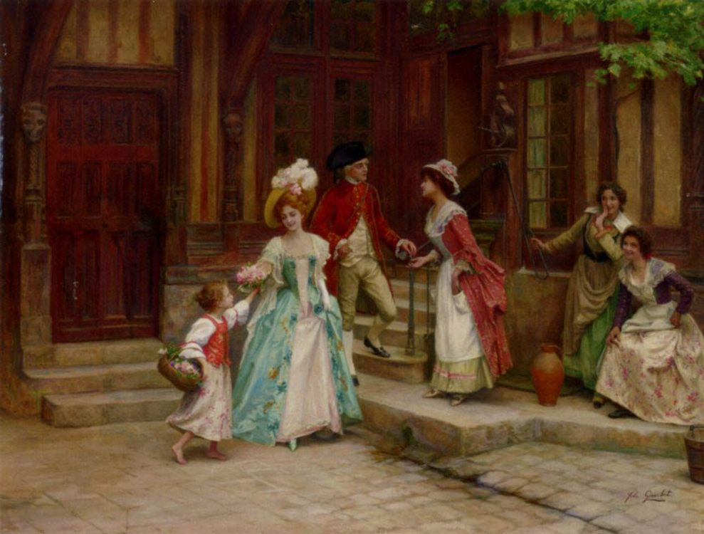 The day after the wedding :: Jules Girardet - Romantic scenes in art and painting фото
