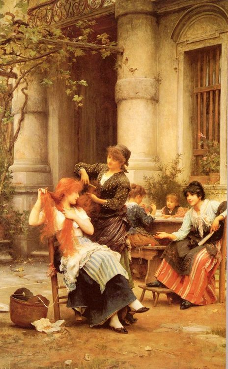 Alfresco :: Luke Fildes - Romantic scenes in art and painting фото