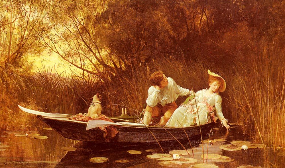 Simpletons, The Sweet River :: Luke Fildes - Romantic scenes in art and painting ôîòî