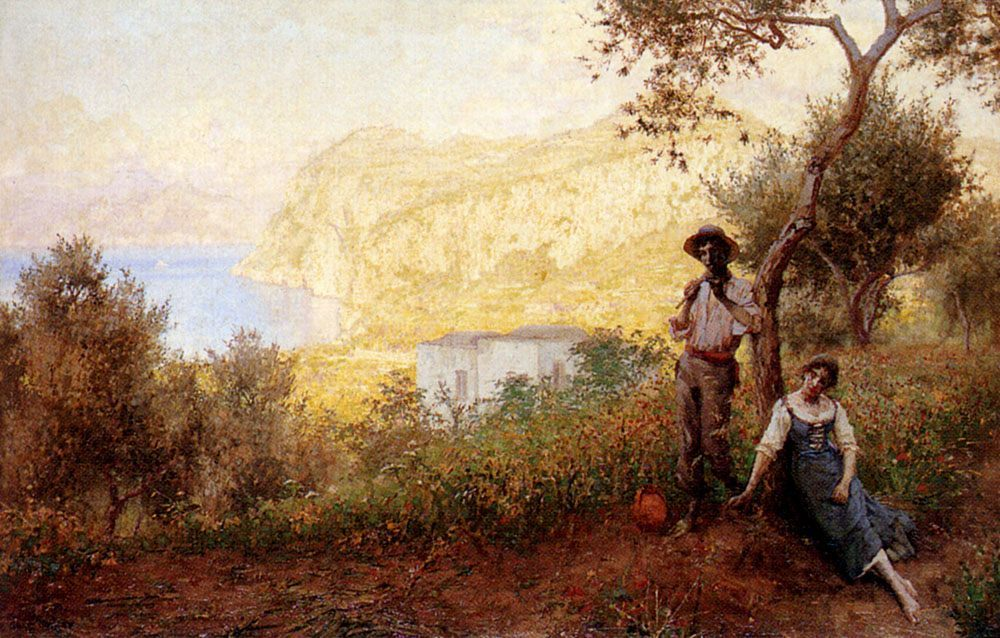 A Capri Pastoral :: Martin Gwilt-Jolley - Romantic scenes in art and painting фото