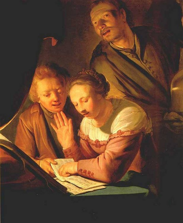 Musical Trio :: Pieter de Grebber  - Romantic scenes in art and painting фото