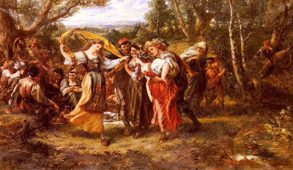 Old Age and Youth :: Sir John Gilbert - Romantic scenes in art and painting ôîòî