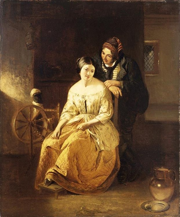 Catherine Seyton, The Proposal, Sir Walter Scotts The Abbott  :: Thomas Faed - Romantic scenes in art and painting фото