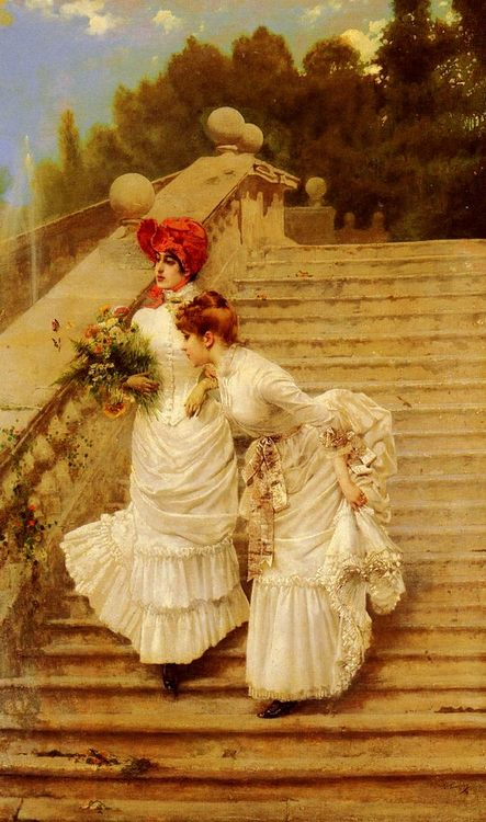 The Rendezvous :: Vittorio Matteo Corcos - Romantic scenes in art and painting фото