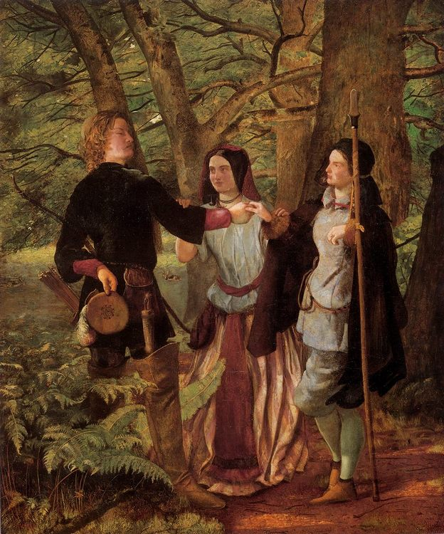 A Scene from As You Like It :: Walter Howell Deverell - Romantic scenes in art and painting фото