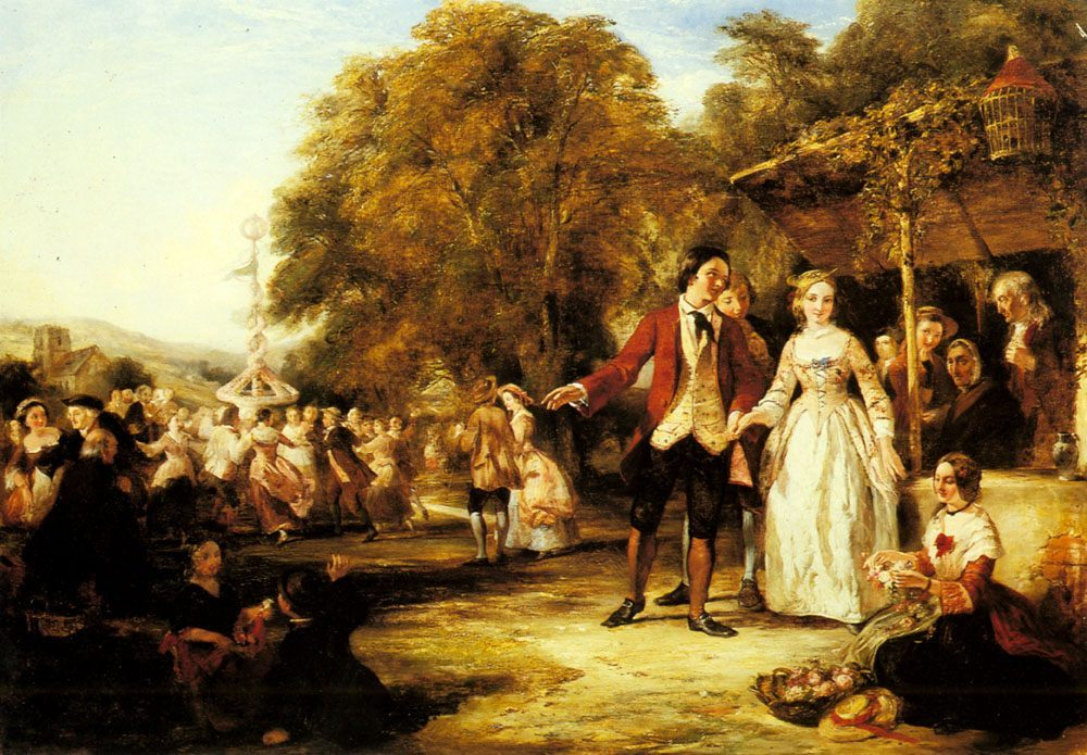 A May Day Celebration :: William Powell Frith - Romantic scenes in art and painting фото