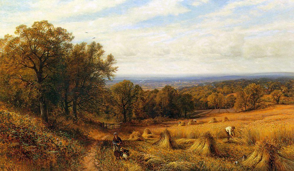 Harvest Time :: Alfred Glendening  - Village life фото