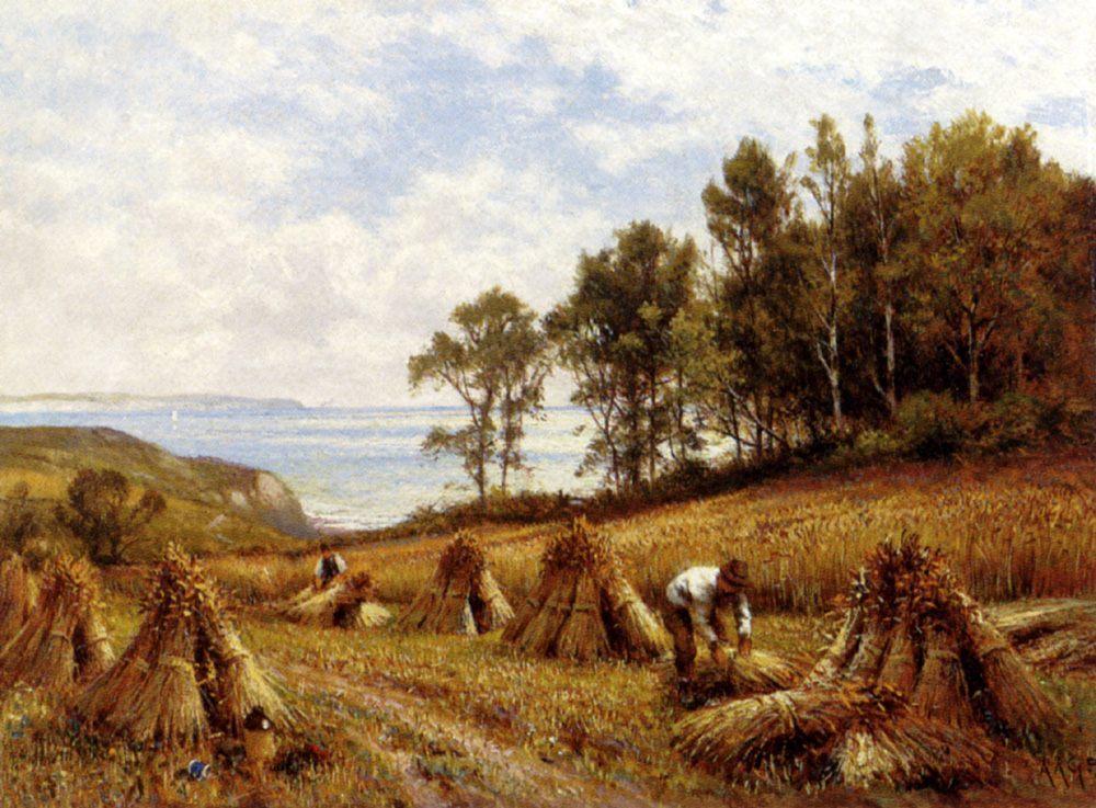 In The Cornfields, Near Luccombe, Isle Of Wight :: Alfred Glendening - Village life ôîòî