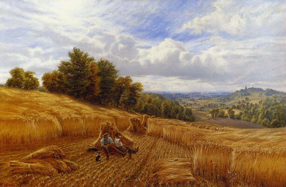 Resting From The Harvest :: Alfred Glendening  - Village life фото