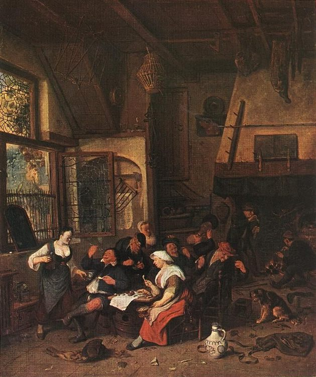 Tavern Scene :: Cornelis Dusart - village life фото