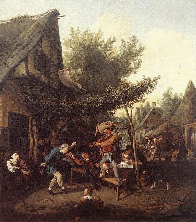Village Feast :: Cornelis Dusart - Village life фото