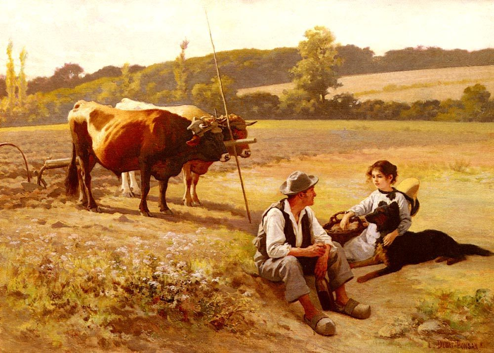 Rest In The Fields :: Edouard Bernard Debat-Ponsan - Village life ôîòî
