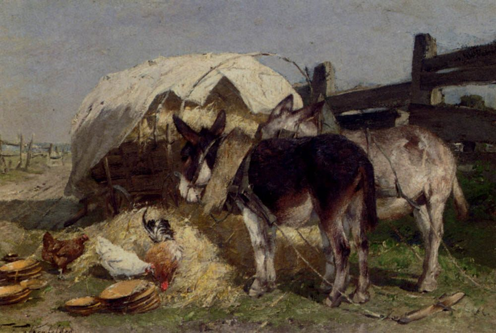 The Midday Rest :: Friedrich Eckenfelder - Village life ôîòî
