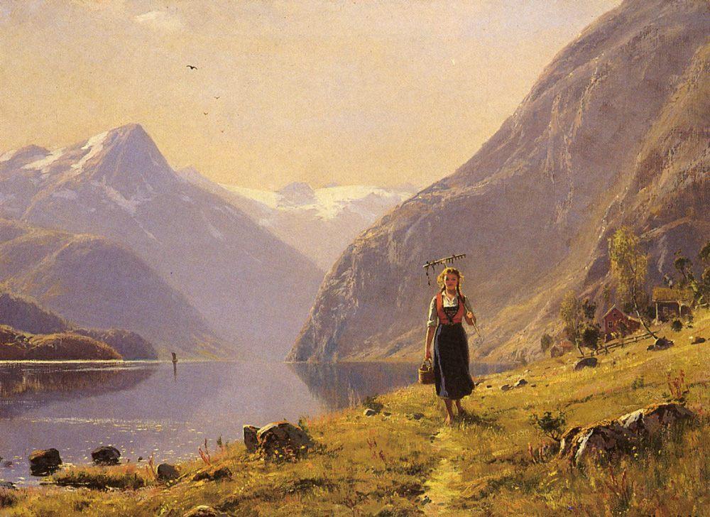 By The FJord :: Hans Dahl - Village life ôîòî