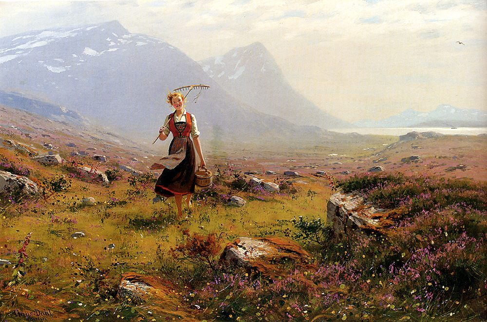 Returning From The Fields :: Hans Dahl - Village life ôîòî
