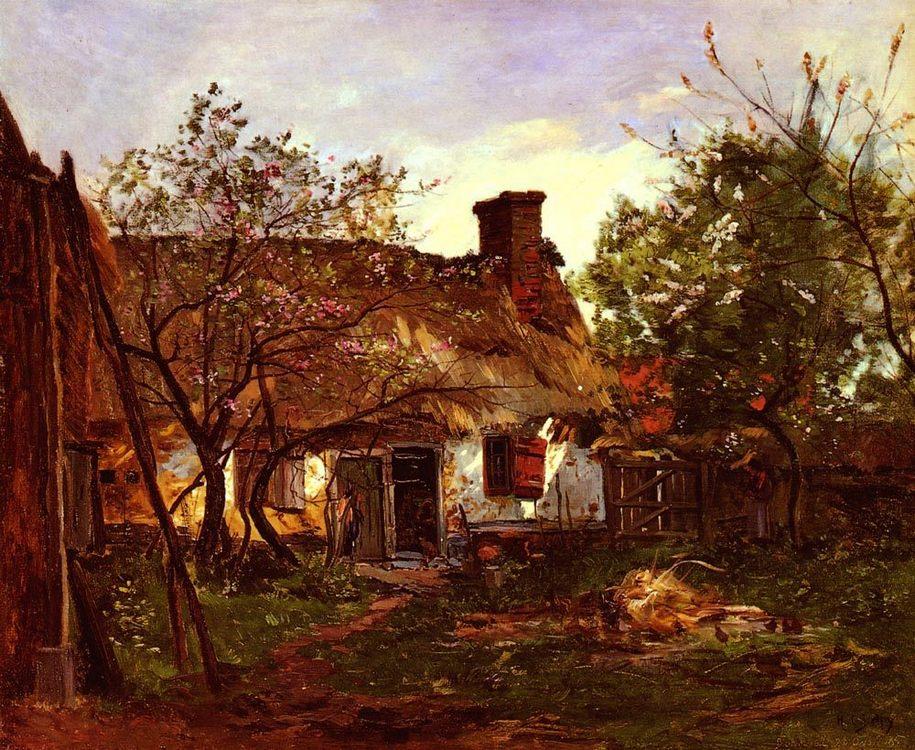 Thatched Cottage in Berneval :: Hippolyte Camille Delpy - Village life ôîòî
