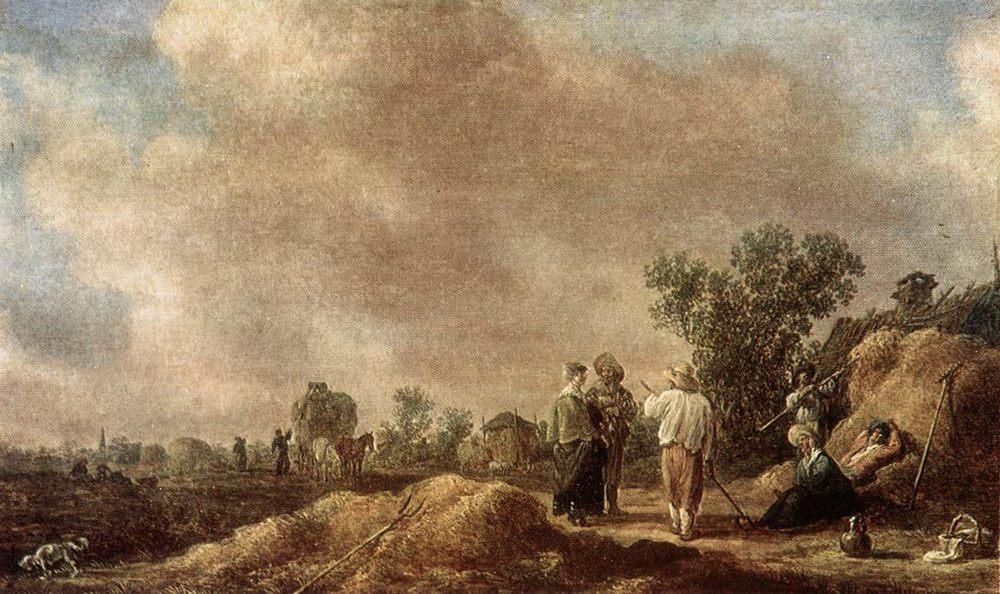 Haymaking :: Jan van Goyen - Village life фото