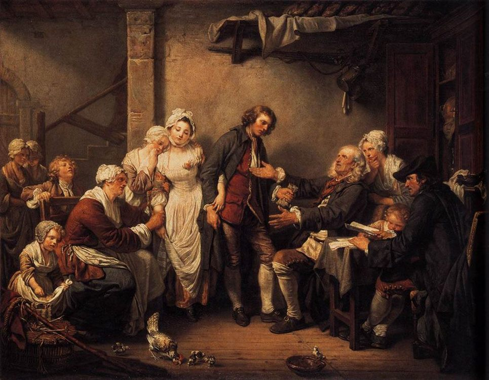 L'Accorde de Village :: Jean Baptiste Greuze - Village life ôîòî