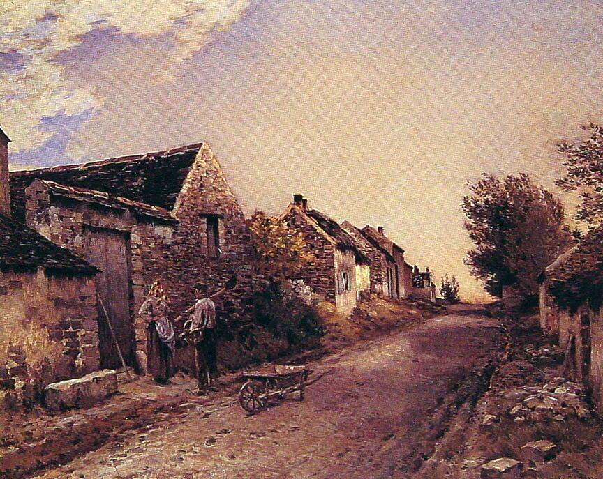 The Gossips :: Jean-Charles Cazin  - Village life фото