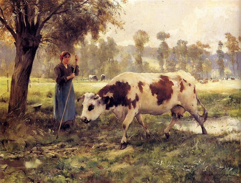Cows At Pasture :: Julien Dupre - Village life фото