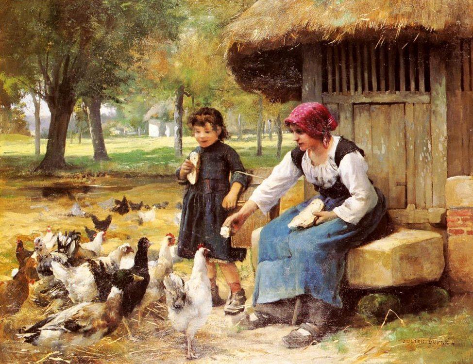 Feeding Time :: Julien Dupre - Village life фото