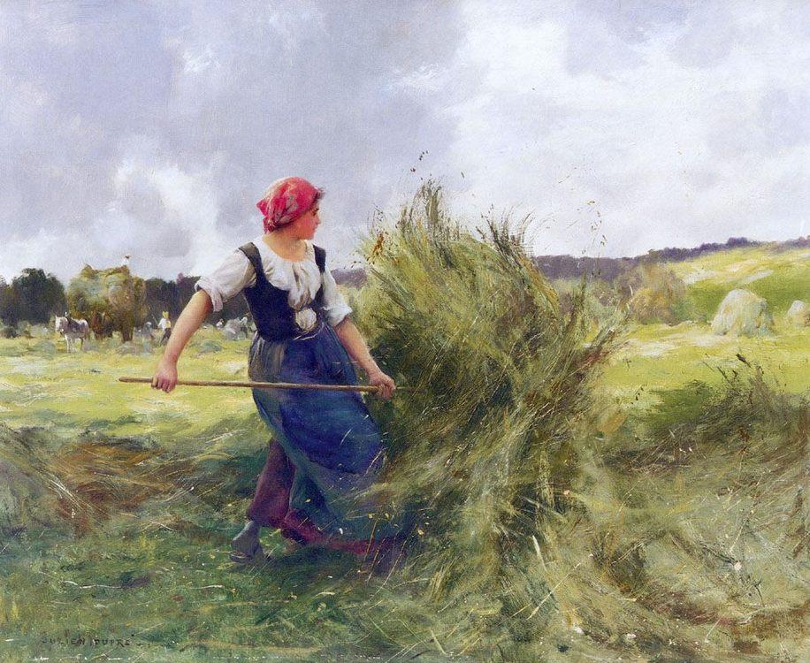 Haymaking :: Julien Dupre - village life фото