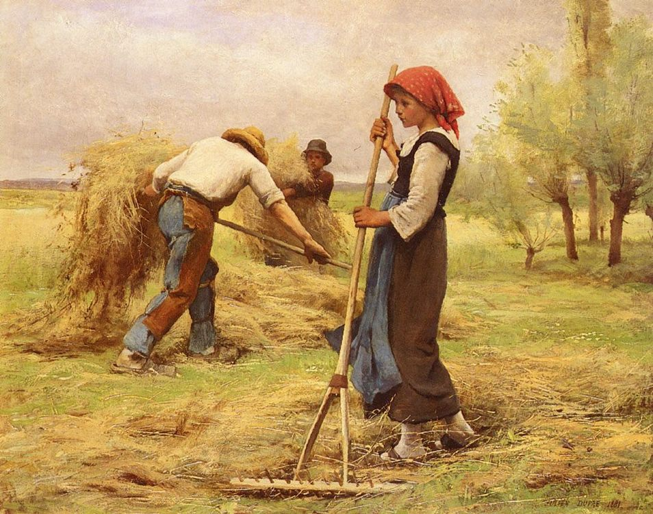 The Harvesting of the Hay :: Julien Dupre - Village life ôîòî