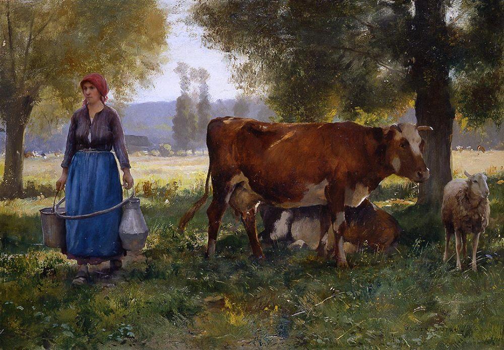 Milkmaid :: Julien Dupre - Village life фото