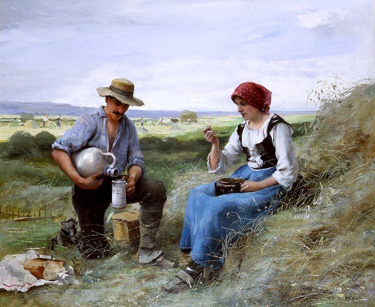 The Haymakers Lunch :: Julien Dupre - Village life ôîòî