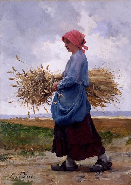 Returning From the Fields :: Julien Dupre - Village life ôîòî