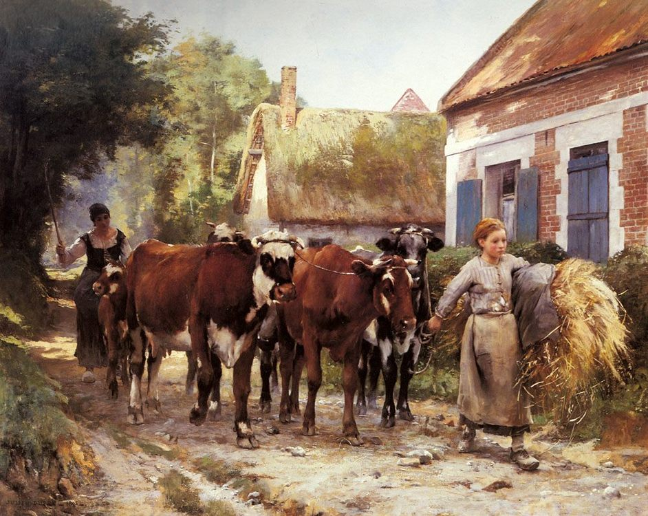 Returning from the Fields :: Julien Dupre - Village life фото