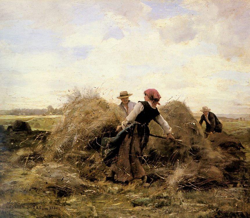 The Harvesters :: Julien Dupre - Village life ôîòî