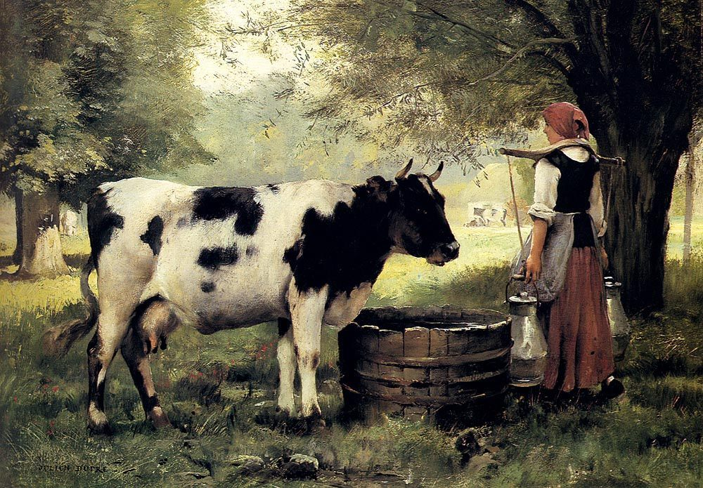 The Milkmaid :: Julien Dupre - Village life ôîòî
