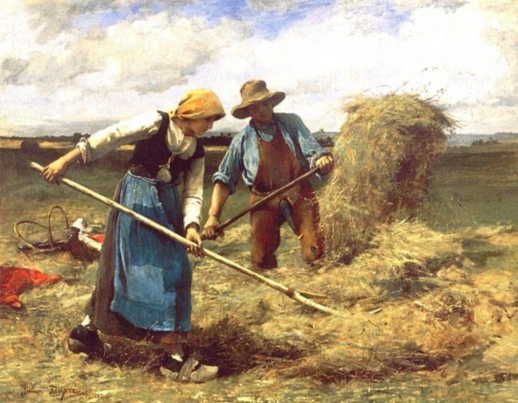 The Wheatfield :: Julien Dupre - Village life ôîòî
